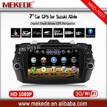 7inch car dvd radio system special design for suzuki Alivio with GPS TV IPOD full function