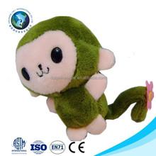 2015Fashion new design cute monkey plush toy mini stuffed plush monkey keychain cheap promotional stuffed green plush toy monkey