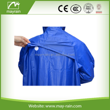 adult rainwear/men's breathable long raincoat with hood