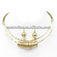 2012 Fashion New Design Connected Earring Necklace Set