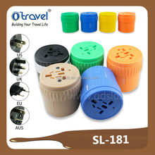 Travel universal adapter with colorful convenient all in one worldwide use over 150 countries in Iceland