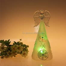 Hot sale heat fire resistant Christmas lighted angel outdoor merry christmas decoration