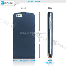 top leather flip case for iphone 6 ,flip leather case for iphone 6 in alibaba China