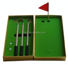 Brand new golden box mini golf club Ballpoint Pen Golf Gift