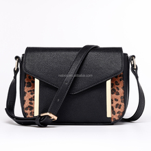 2016 winter season leopard print popular christmas ladies cooler black bags