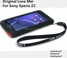 Love mei proffessional waterproof dirtproof shockproof phone case for sony xperia z2