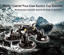 Wieldy Newly Upgrated Four Claw Suction Cup Stabilizer Pro Car Suction Cup Video Stabilizer Support with Ball Head