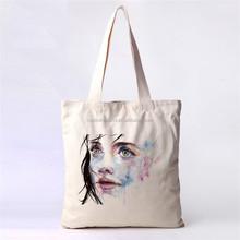Custom Printed cotton canvas shopping bag