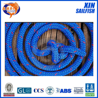 Blue color double braidede ropes tugboat rope