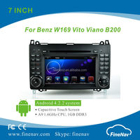 7inch Tft LCD Screen Car DVD Player for BENZ W169 with Gps Navi,3G,Wifi,Bluetooth,Ipod Support Rear View Camera,DVR