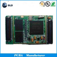FR4 pcb 6 layer fabrication with green soldermask
