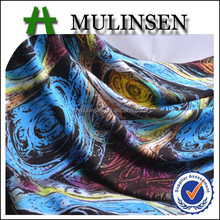 Mulinsen Textile Single Jersey Reactive Printing Knitted Viscose And Elastane Fabrics for Garment and Women Underwear
