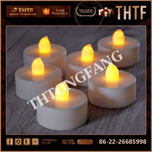 Plastic Church Candles Wholesale Flickering mini Pillar candle