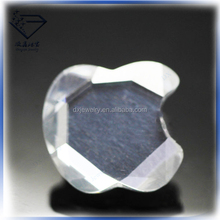 New designed surface plating silver apple shape cubic zirconia