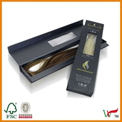 single packing hairpiece box with clear window