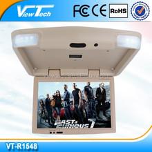Hot selling 15.4inch bus tv monitor 1440*900 2 AV input DC12V Support 1080P