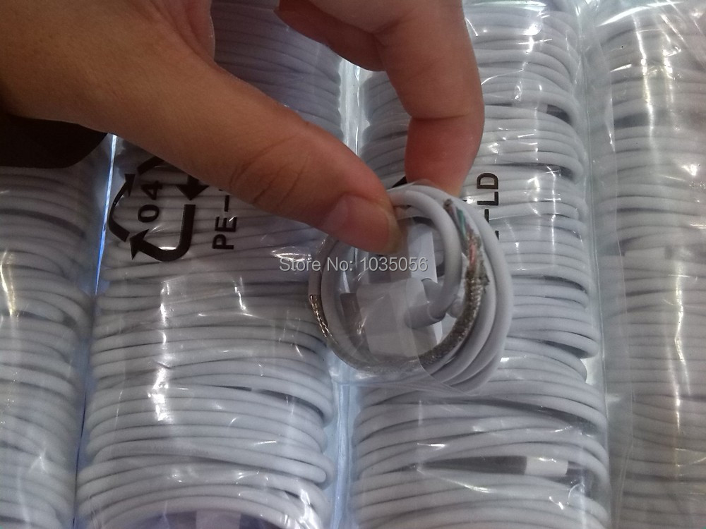 500Pcs/Lot For iPhone_4 4G 4S Charger Cable Data Sync Cable USB Cable For Apple phone Parts ; DHL EMS Free Shipping