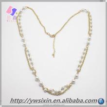 2015 New fashion Milk white plastic beads beaded collars for women of Yiwu
