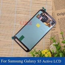 LCD for Samsung Galaxy S5 Active LCD Screen Display with Touch Screen Digitizer Replacement Green Grey Gray G870 G870A G870x