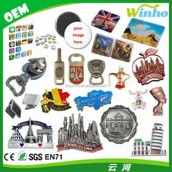 Winho 3D Fridge Magnet, Metal Fridge Magnet, Souvenir Fridge Magnet