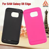 TPU caes for Samsung galaxy s6 edge litchi case ,rich color ultra-thin tpu case for samsung galaxy s6 edge cover