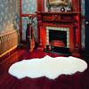 shaped sheep skin long pile shaggy carpet China supplier