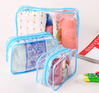 Hotsale Clear Transparent Cosmetic Cases Plastic PVC Travel Cosmetic Make Up Toiletry Bag Zipper
