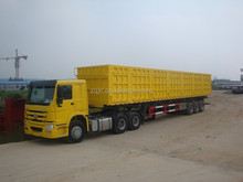 3 axles 60 tons tipper trailer air suspension