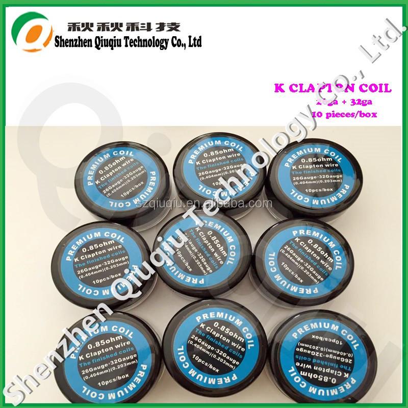 Qiuqiu Wholesale K Clapton Wire Coils 26ga+32ga Clapton Wire Coil ...