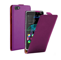 for wiko ridge fab 4g case purple color filp leather case high quality with factory price