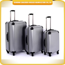 High quality ABS PC luggage Nude colors PC travel trolley luggage 3 pcs ABS luggage for travel