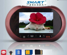 big clear image long range wireless video intercom digital door peephole viewer camera with photo memory
