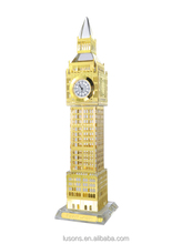 GCY01 London souvenir gilted crystal clock 19cm big ben model UK souvenir
