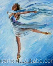A Slim Girl impressionist dance painting On Canvas