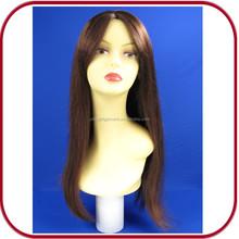 Glamour lungo rettilineo Auburn dei capelli umani parrucca piena del merletto pgw-1774