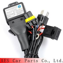 Good quality HID bi xenon H4 Wire harness for 35W and 55W for projector lens