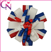 Wholesale America Flag Popular Fashion Korker Eco-friendly Hair Bow For Girls With Clip CNHBW-1308193-13