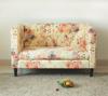 High quality flower fabric design 2 seat modern fabric sofa /living room sofa (KS-03-2)