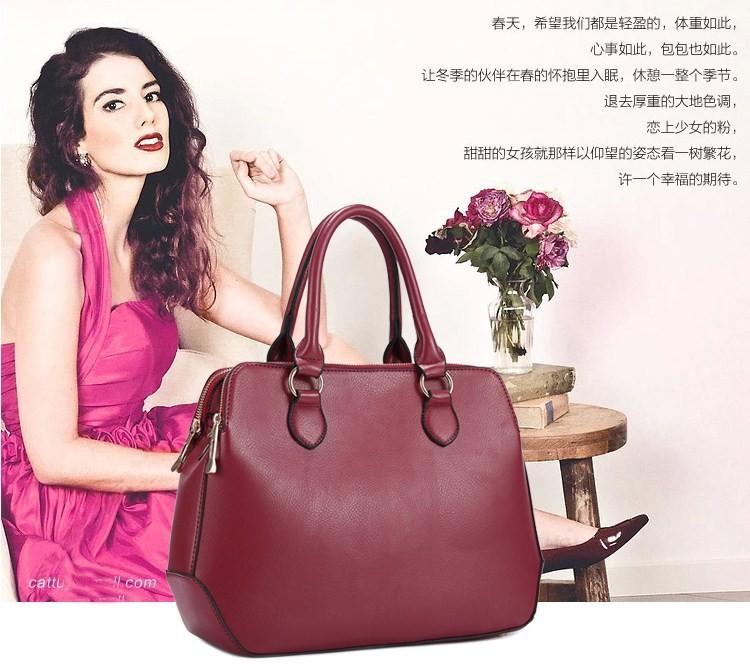 Famous Brand Design Bag Vintage Women Messenger Bags Leather Office