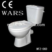 Wc, economía de wc, dos piezas de baño,