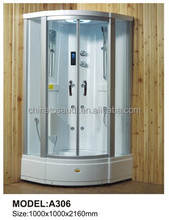 2015 Modern style steam shower Tempered Glass Bathroom Massage Steam Shower