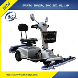 cleaning mobility scooter three wheel with mop