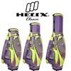 Helix women designer golf bag with wheels / ladies designer golf bag/pu leather golf cart bags