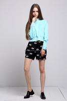 sky blue color woman long sleeve shirt