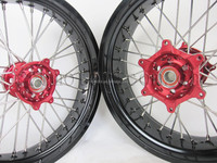 "china supplier oem quality 17"" wheel rim set for honda cr crf supermoto"
