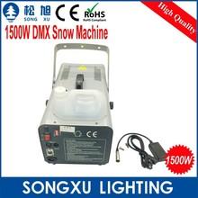 intelligent 1500w dmx snow machine dj stage effect machine