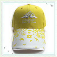 Flat Embroidery 6 Panles Classical Design Baseball Cap