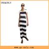 Casual summer stripe maxi dress 2015