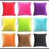 Polyester Soft Pillow Decorative Pinky Color Sofa Large Velour Velvet Cushion Cover Wholesale Throw Pillow case HT-PSVDC-01