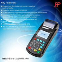 8110 GPRS handheld bill payment machine with thermal receipt printer pos system price